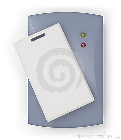 RFID reader with RFID card