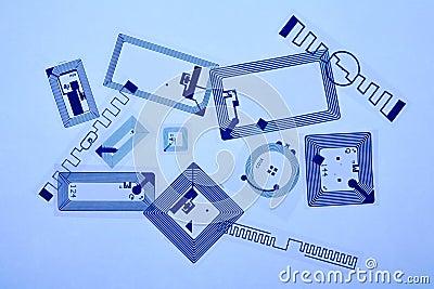 RFID tags Editorial Image