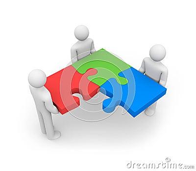 RGB concept. Successful team