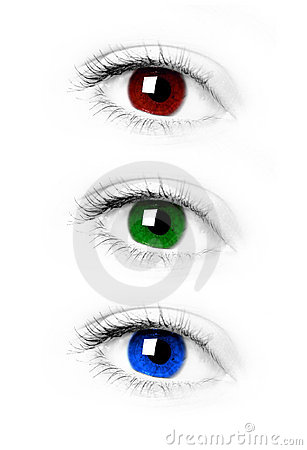 Free RGB Eye. Red Green Blue Eye Royalty Free Stock Photo - 3506915