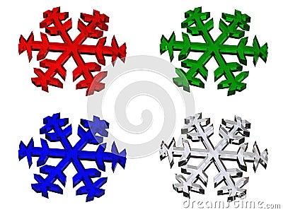 RGB snowflake