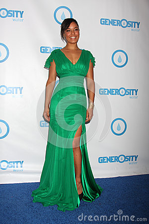 Rhea Bailey arrives at the 4th Annual Night of Generosity Gala Event Editorial Stock Photo