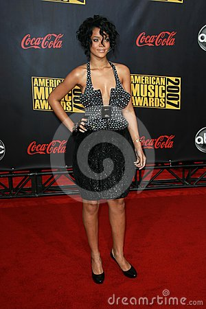 Rhianna arriving at the 2007 American Music Awards. Nokia Center, Los Angeles, CA. 11-18-07 Editorial Photo