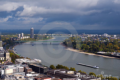 Rhine, Cologne, Germany Editorial Image