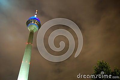Rhine Tower at night