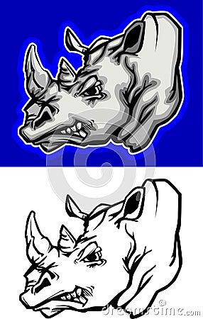 Rhino Mascot Logo