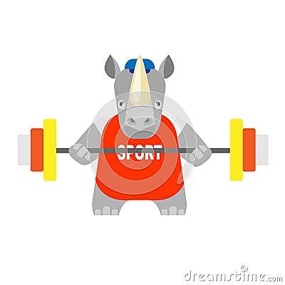 Rhino weightlifter