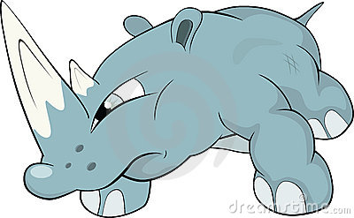 Rhinoceros .Cartoon