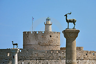 Rhodes Landmark Mandraki Port