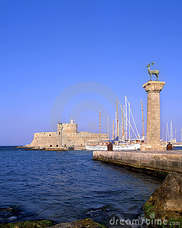 Free Rhodes Old Port Stock Photography - 5142612