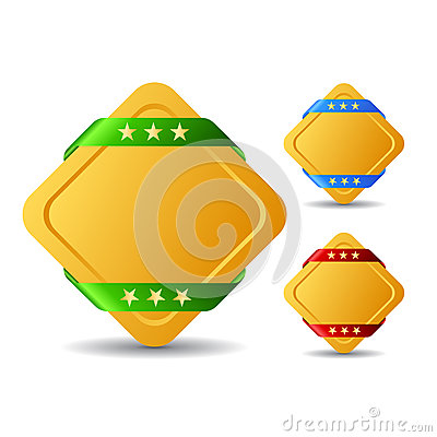Rhombus blank buttons