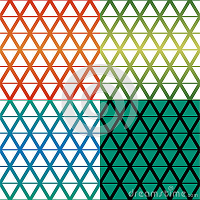 Rhombus pattern four colour theme