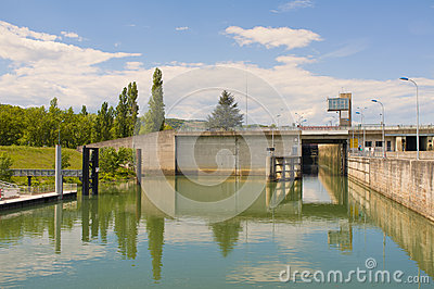 Rhone River Lock, France