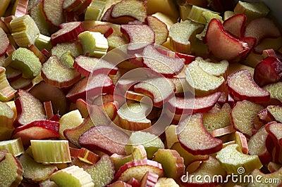 Rhubarb slices