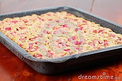 Rhubarb wholemeal cake