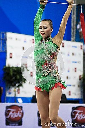 rhythmic gymnast Anna Alyabyeva Pesaro WC 2010 Editorial Image