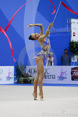 rhythmic gymnast Daria Dmitrieva Pesaro WC 2010 Editorial Stock Photo