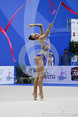 rhythmic gymnast Daria Dmitrieva Pesaro WC 2010 Editorial Stock Photo