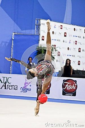 rhythmic gymnast U. Trofimova Pesaro WC Pesaro  1 Editorial Image
