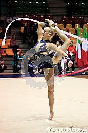 Rhythmic gymnastic Editorial Photo