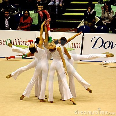 Rhythmic Gymnastic Italian National team Editorial Image