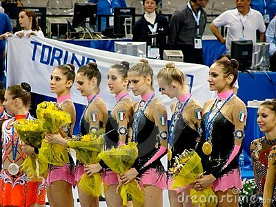 Rhythmic Gymnastic: Italy Editorial Image