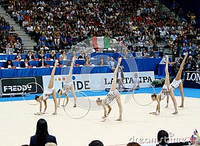 Rhythmic Gymnastic: Italy Editorial Photo