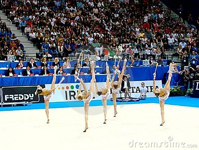 Rhythmic Gymnastic: Italy Editorial Stock Photo