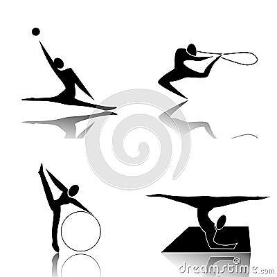 Free Rhythmic Gymnastics Stock Photography - 23413002