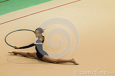 Rhythmic Gymnastics Girl Hoop Floor