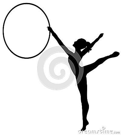 Rhythmic Gymnastics: Hoop BW