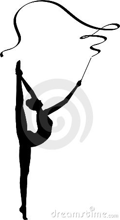 Free Rhythmic Gymnastics Ribbon Stock Photos - 17743073