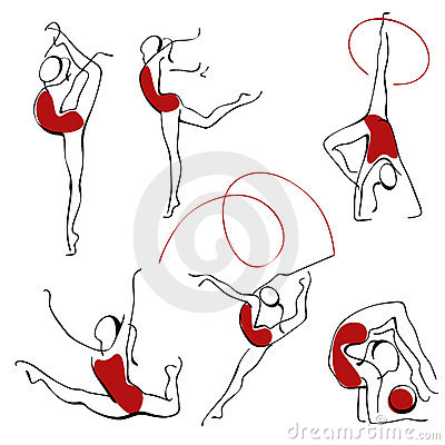Rhythmic gymnastics. set  figures