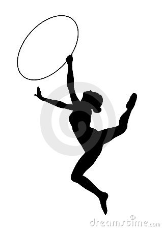 Rhythmic Gymnastics - vector icon
