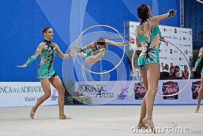 rhythmic gymnasts Italy World Cup Pesaro 2010 Editorial Photo