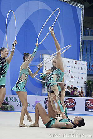 rhythmic gymnasts Italy World Cup Pesaro 2010 Editorial Photography
