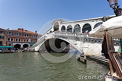 The Rialto Bridge in Venice Editorial Stock Photo