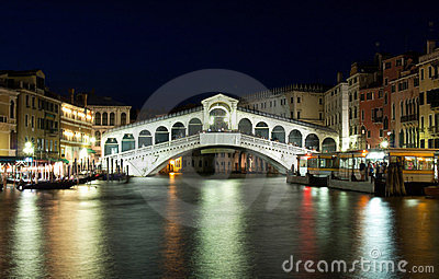 Rialto Bridge in Venice, Italy Editorial Stock Photo