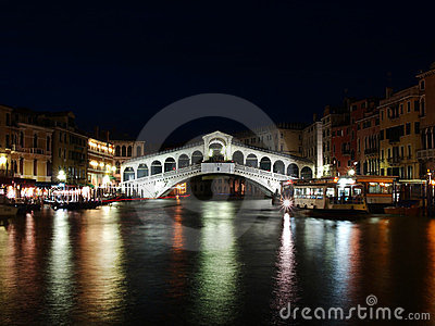 Rialto Bridge in Venice, Italy Editorial Stock Image