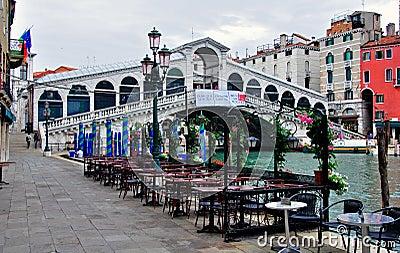 The Rialto Bridge, Venice, Italy Editorial Stock Photo