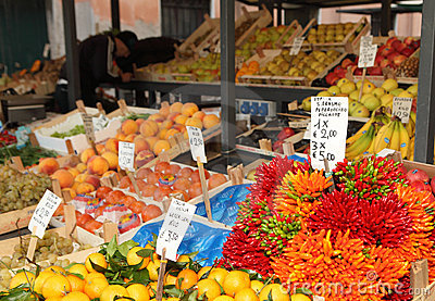 Rialto market vegetable stall