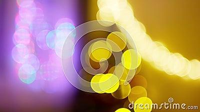 Riassunto di colori e di oro, offuscato. Luci di Natale di sfondo I archivi video