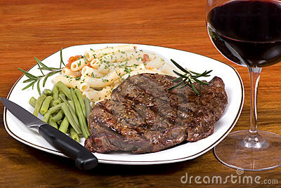 Rib Eye Steak Dinner 1