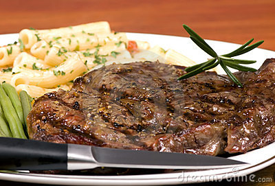 Rib Eye steak dinner 2