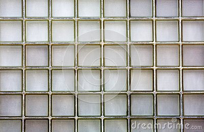 Ribbed Glass block wall