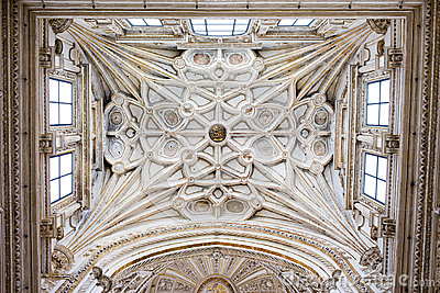 Ribbed Vault Ceiling of the Mezquita Cathedral