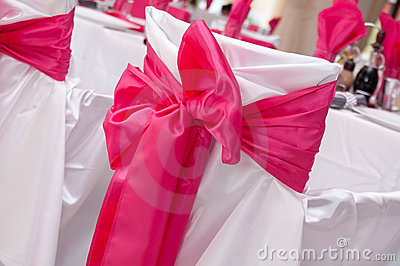 Ribbon arrangement of wedding