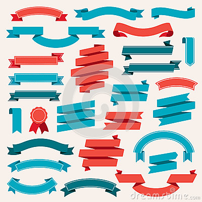 Free Ribbon Banners Retro Collection Vector Royalty Free Stock Photos - 84101958