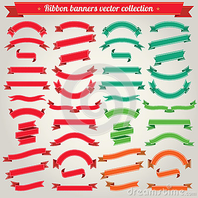 Free Ribbon Banners Vector Collection Royalty Free Stock Photography - 29759997