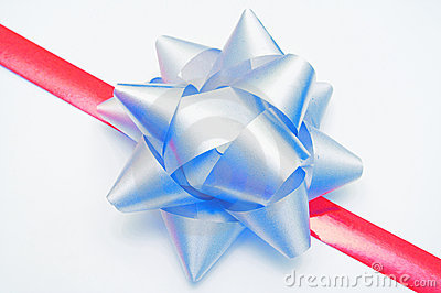 Ribbon and bow on gift
